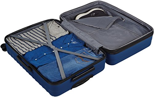 AmazonBasics Hartschalen-Trolley - 3-teiliges Set (56 cm, 69 cm, 79 cm), Marineblau - 5