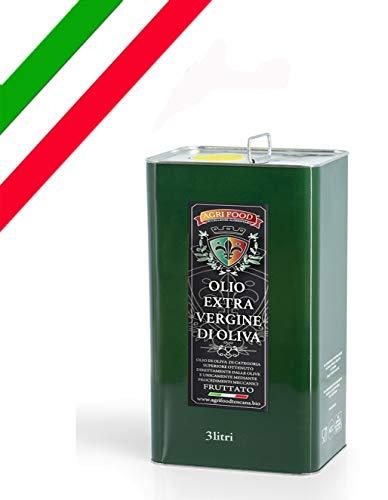 """Olio Extra Vergine D'Oliva Agrifood """"ORO"""" grezzo fruttato ITALIANO Prima Spremitura a Freddo, Ultimo RACCOLTO (3 Litri)"""