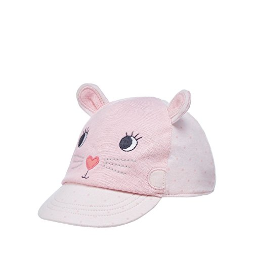 Bluezoo Kids Baby Girls' Pink Cat Applique Cap 6-12 Months Test