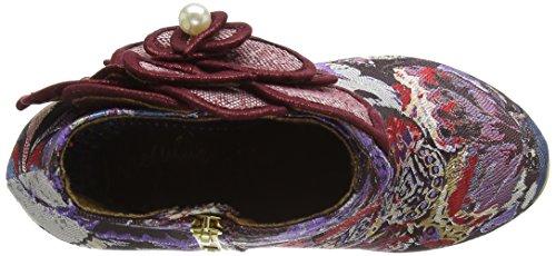 Irregular Choice Damen Pearl Necture Pumps Red (Bordo/Purple)
