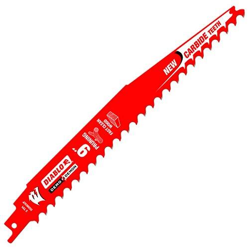 Säbelsägeblätter Beschneiden (Freud ds0903cp Diablo 22,9cm Hartmetallbestückt Beschneiden Säbelsägeblatt Blade 3tpi-fast Holz (1Pack))