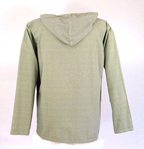 Guru-Shop Ethno Sweatshirt Hippie Goa, Herren, Baumwolle, Sweatshirts Alternative Bekleidung Natur