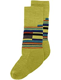 Smartwool Socks Kids Wintersport Stripe - Calcetines para niño, color verde, talla M