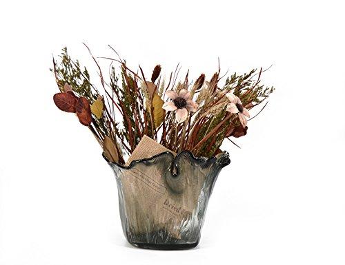 moycor-1930342-2-vaso-di-vetro-grigio-glass-alto-con-bouquet-fiori-secchi-26x20x22