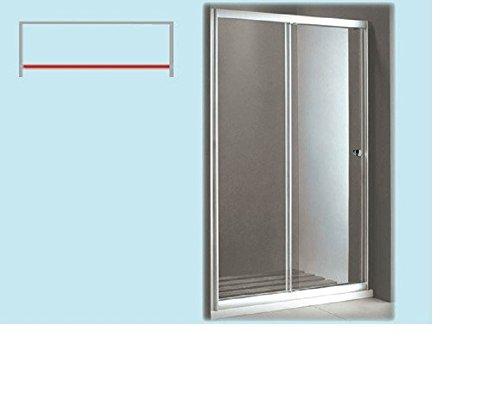 PARETE CABINA BOX DOCCIA CIGNO 120X185H CRISTALLO TRASPARENTE MM.5