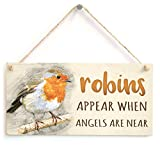 Best Gift Garden Friends Keepsakes - Robins Appear When Angels are Near - Poetic Review
