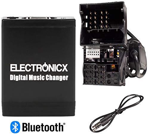 Electronicx Elec-M06-BM2-BT Adapter Bluetooth Freisprecheinrichtung USB,AUX, SD, CD-Wechsler für BMW Flachpin stereo mp3 (Range Rover Cd-wechsler)