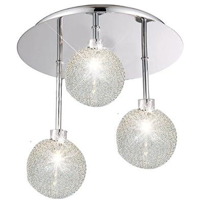 Deckenlampe Deckenleuchte 3-flammig Leuchte Glaskugeln ESTO Elena 980077-3 von Esto auf Lampenhans.de