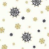 Duni Zelltuch Serviette Snowflake Necklace White 40x40 cm 1/4 Falz 250 Stück, Servietten Weihnachten