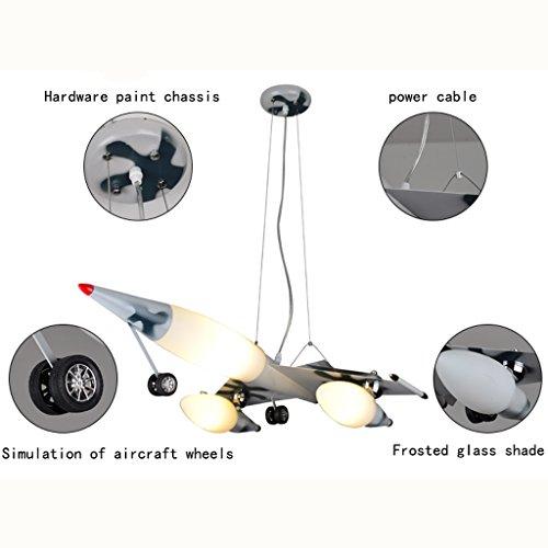 Guo Kinderzimmer Schlafzimmer Lichter Kämpfer Kreative Kronleuchter Junge Flugzeug Lichter Eisen E27 Lampenanschluss - 5