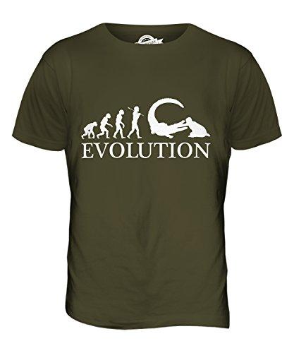 CandyMix Reptilien Pfleger Evolution Des Menschen Herren T Shirt Khaki Grün