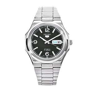 Seiko Herren-Armbanduhr XL Analog Automatik Edelstahl SNKK57