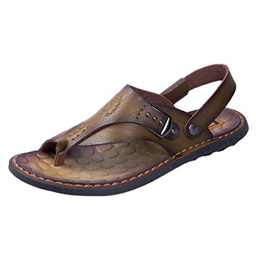 Yiiquanan infradito casual sandali sportivi estivi scarpe da spiaggia ciabatte da spiaggia all'aperto per uomo (khaki, 42.5 eu)