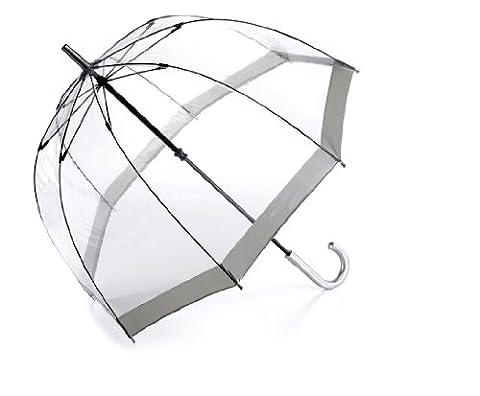 Fulton Damen Regenschirm durchsichtig silber