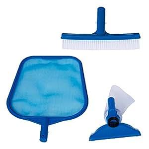 Intex 29056 Set di Pulizia Basic, Retina, Spazzola, Vaccum