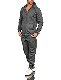 bc62949867acda A. Salvarini Herren Jogging Anzug Trainingsanzug Sportanzug Sweatshirt AS071