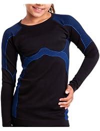 Kinder Sport Thermo Funktionswäsche - Langarm-Hemd Seamless - von celodoro - Ski-, Thermo- & Funktionshemd mit Elasthan - verschiedene Farben