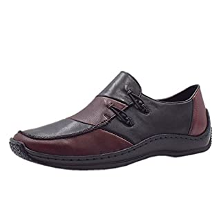 Rieker L1762-36 Journey Casual Slip On Leather Shoes in Medoc 38 Medoc