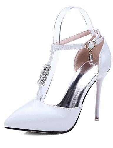 WSS 2016 Chaussures Femme-Bureau & Travail / Habillé / Décontracté-Noir / Rouge / Blanc-Talon Aiguille-Talons / Confort / Bout Pointu-Talons-Cuir white-us8 / eu39 / uk6 / cn39