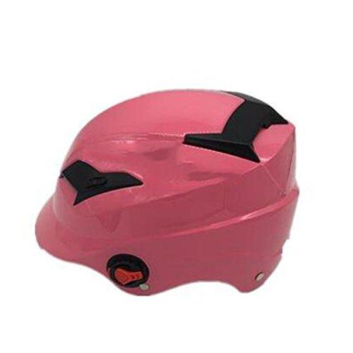 TZQ Sandalen Motorrad Sommer Halbhelm Antifog Cool Herren Damen Sonnenschutzhelme,Pink-OneSize