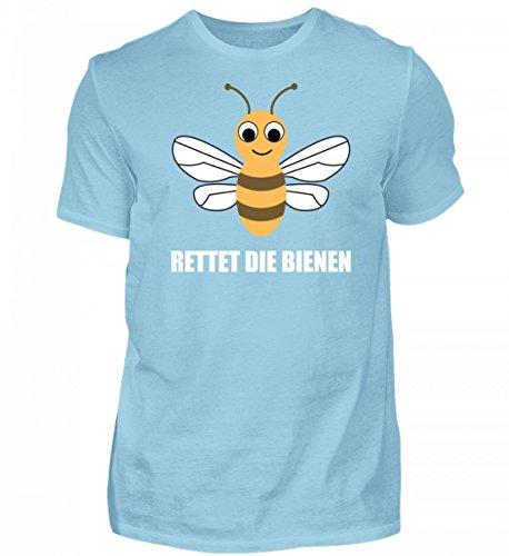 Die Himmelblau Bienen Rettet Hochwertiges Herren Shirtee qwzAY0t