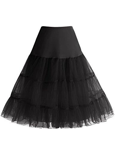 Bbonlinedress Jupon Femme Style année 50 Jupon Rockabilly 4 Tailles à Chois