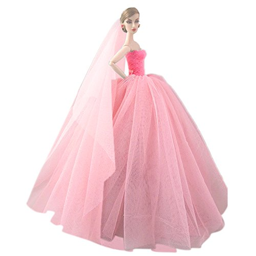 6114db25def7 Beetest Elegante Fata Abiti per Barbie Doll   Barbie Bambole ...