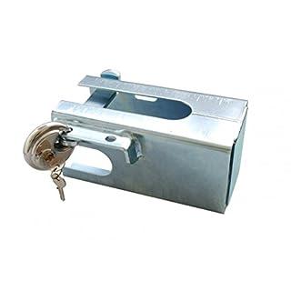 AVB Anhängerkupplung Diebstahlsicherung Simol Kastensicherung gross komplett Set, Silber