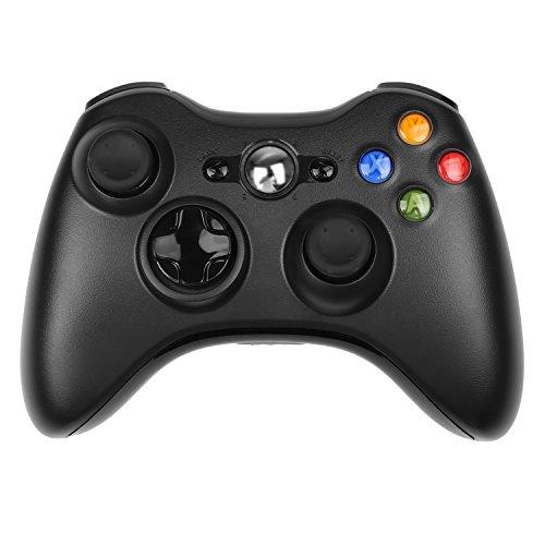 Xbox 360 Controller, STOGA di Controller Xbox 360 Remoto Wireless Controller di Gioco per Microsoft Xbox 360 PC Windows 7 XP Joypad (Nero/xbox 360)