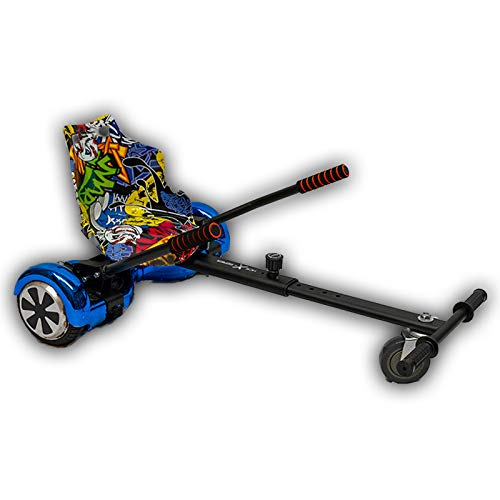 Gift Gadgets Graffiti Hip Hop Gelber Sitz mit BlackHoverkart Hover Kart Go Kart Racer GoKart