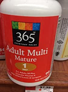 365 Everyday Value Adult Multi Mature - One Daily (90 Iron - Free Tablets) by Whole Foods Market, Austin TX