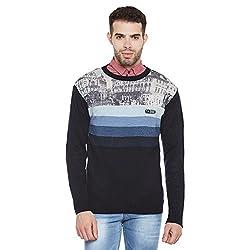 Duke Men Casual Sweater 1968078031 Navy Coloured XX-Large