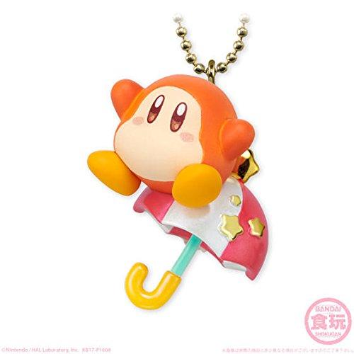 Bandai Twinkle Dolly Kirby Figure Swing Keychain~Waddle Dee (Gold Mario Amiibo)
