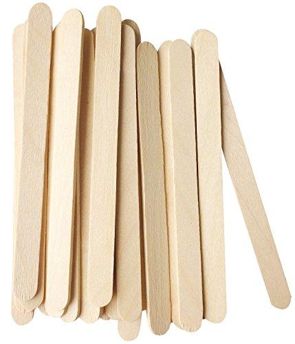 korlon Natural Holz Ice Cream Sticks Treat Sticks Gefrierschrank Pop Sticks, 11,4cm Länge Holz Sticks für Eis Bars, 200Stück (Eis Rührwerk)