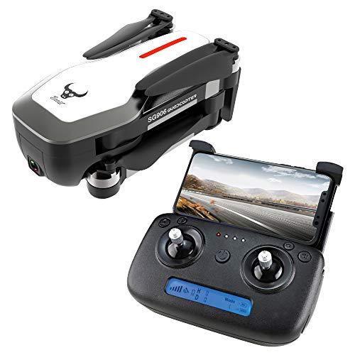 Faironly ZLRC Beast SG906 GPS 5G WiFi FPV mit Ultra klarer 4K-Kamera Brushless Selfie Faltbarer RC-Drohne-Quadcopter White 2 Battery