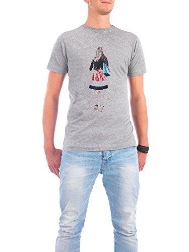 """Design T-Shirt Männer Continental Cotton """"rotes kleid"""" - stylisches Shirt Menschen Fashion von Josef Jumpers Grau"""