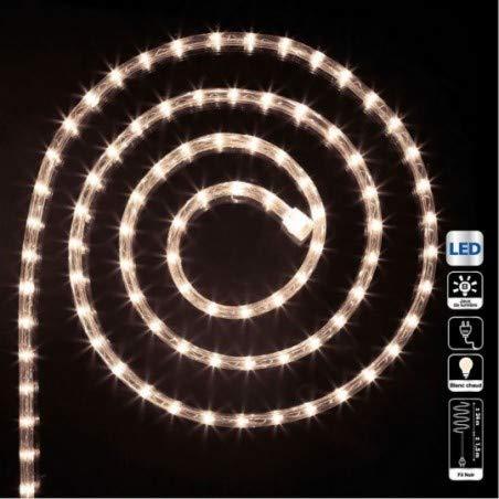 Guirlande Tube lumineux 24 mètres Ampoules LED Blanc chaud et 8 jeux de lumière