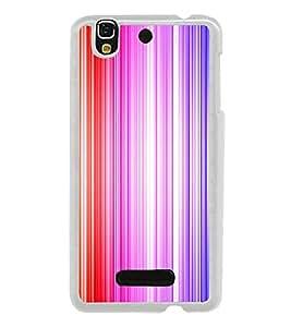 Colourful Lines Pattern 2D Hard Polycarbonate Designer Back Case Cover for YU Yureka :: YU Yureka AO5510