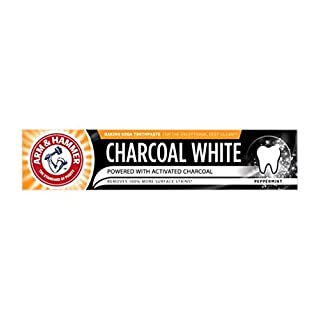 ARM & HAMMER CHARCOAL WHITE PEPPERMINT TOOTHPASTE 75ML