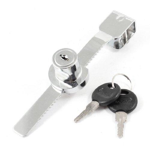 14cm lang Silber Ton Styling Glas-Schiebetür Tür Lock w Metall Schlüssel