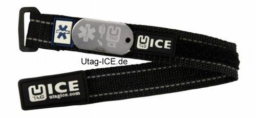 Notfall - SOS Sicherheits - Armband USB, schwarz mit Software