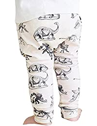 Longra Niño pequeño Dinosaurs Imprimir Elasticity Pantalones Largos Lovely Harem Pantalones