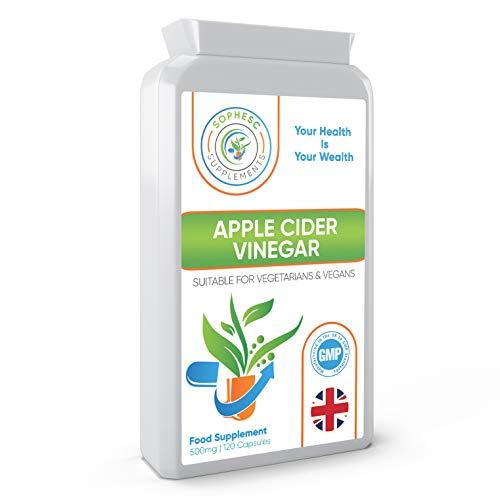 Apfelessig-Kapseln - 120 Kapseln - 1000 mg Tagesdosis - Premium-Qualitäts-Supplement - 60 Tage Vorrat - In Großbritannien hergestellt - Vegan geeignet - Apfelessig-Kapseln