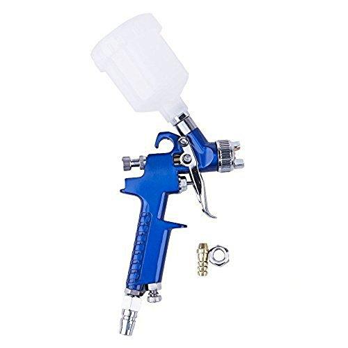 Preisvergleich Produktbild Gravity Feed Sprühpistole, valink HVLP Mini Professional 1.0mm Air Spray Gun mit Düse, 125ml-Tasse Kapazität Gravity Spray Gun für Paint Projekte Malerei nachbearbeiten Auto