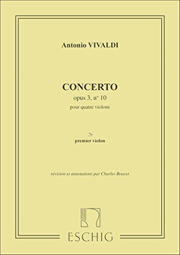 Concerto Op 3 N 10 4 Vl Violon 1