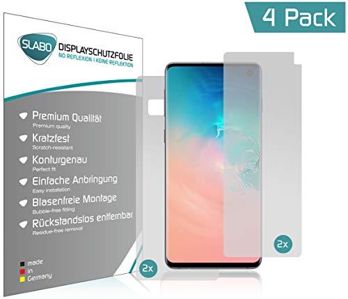Slabo 4 X Film De Protection Décran Pour Samsung Galaxy S10 2x Avant 2x Arrière Protection Fonctionne Avec Fingerprint On Display écran Film No