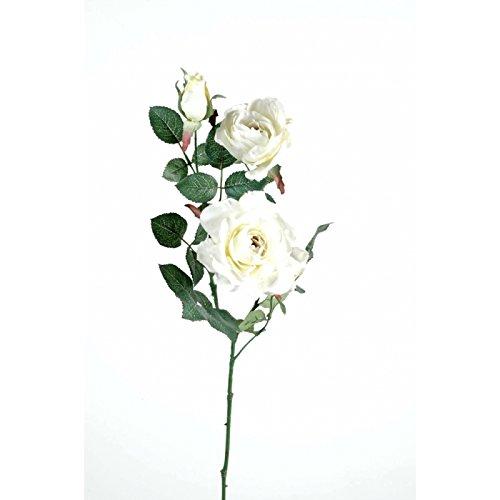 fleur coupee synthetique rose margaux 2t 1b - h : 76