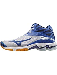 Mizuno Wave Lightning Z2 Mid, Zapatillas de Voleibol para Hombre, Bleu/Vert/Blanc