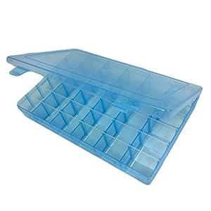 Pixnor scatola in plastica con 36 scompartimenti con divisori rimovibili blu fai da te - Accessori bagno plexiglass amazon ...