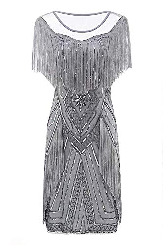 Metme Flapper Dress, 1920s Flapper Fringed Sequin Dress for sale  Delivered anywhere in UK